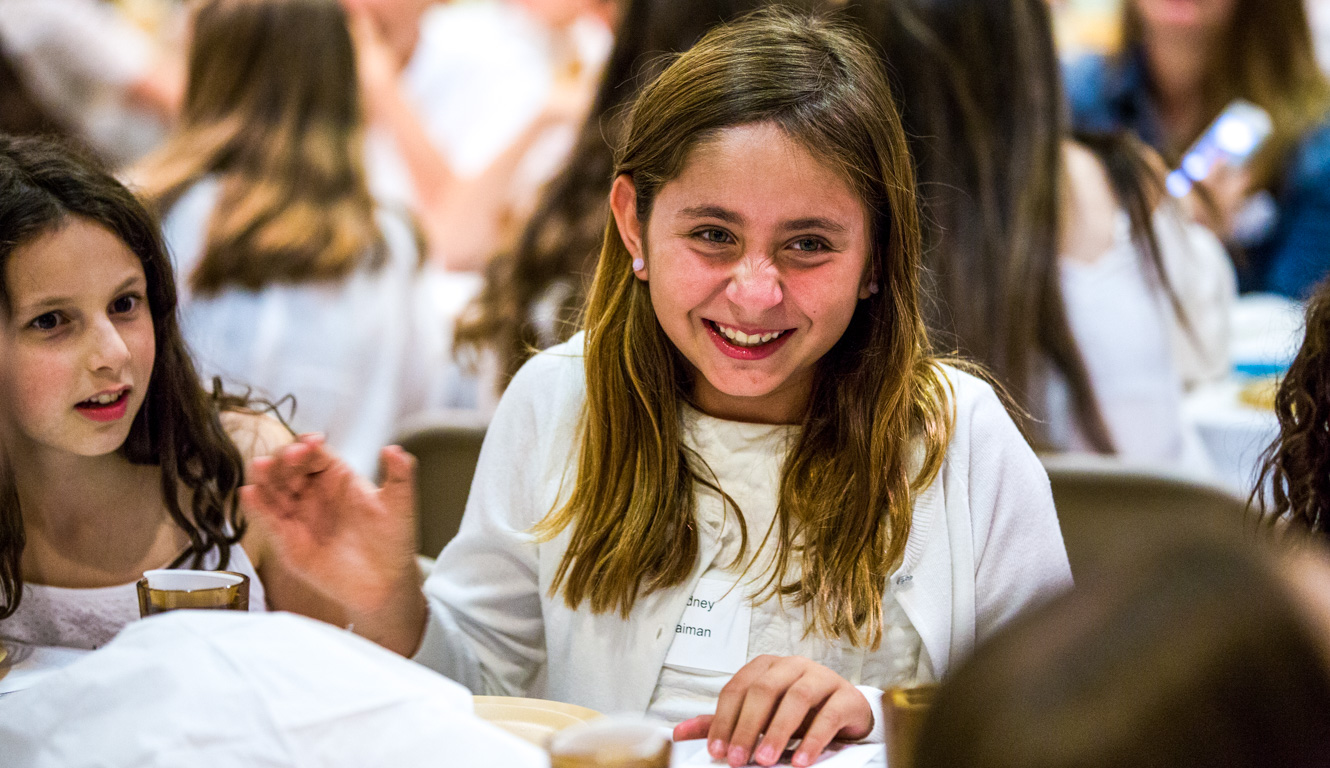 Girls laughing at shabbat